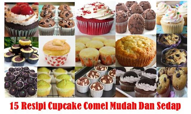 15 Resipi Cupcake Comel Mudah Dan Sedap