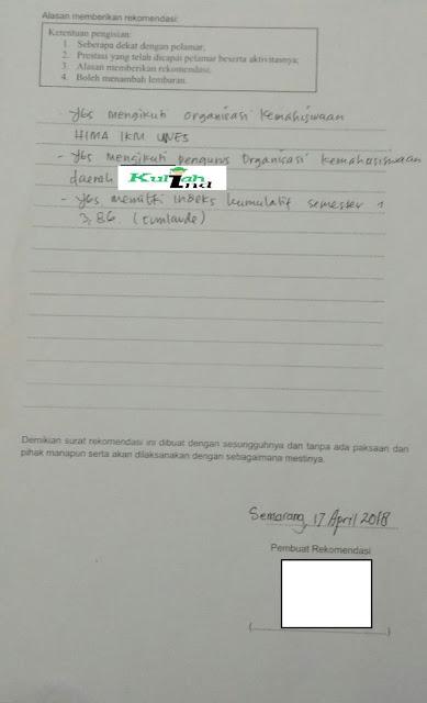 gambar contoh isi surat rekomendasi