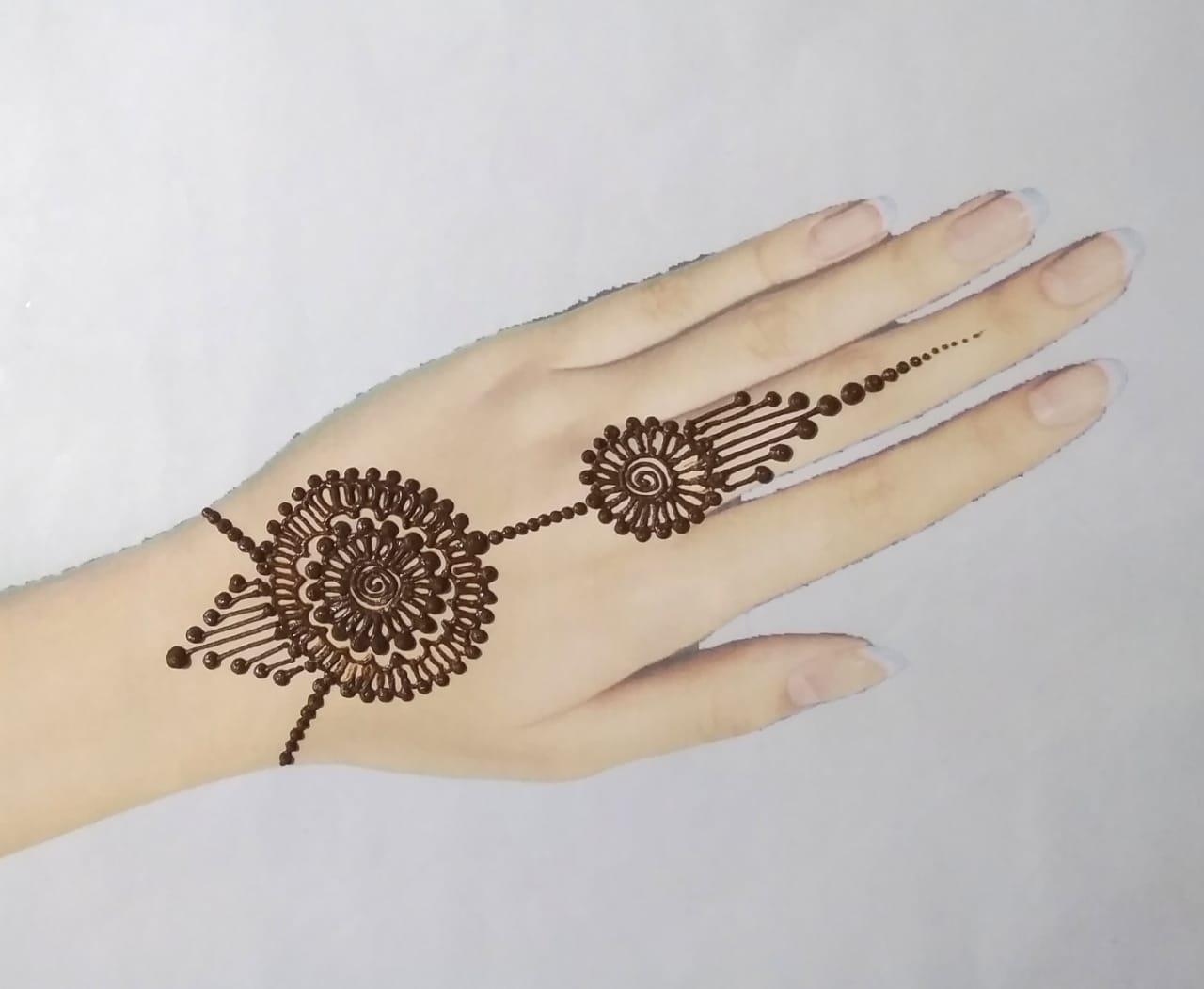 Simple Mehndi Design Arabic
