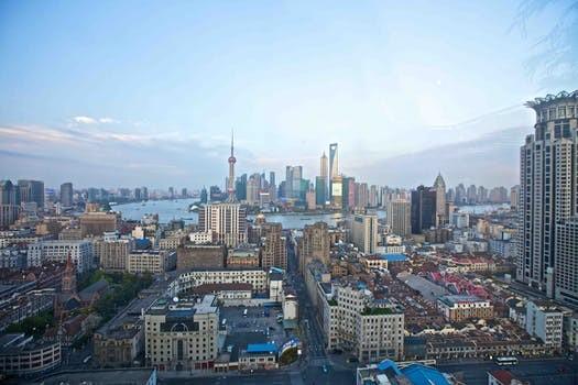 上海市外灘の風景
