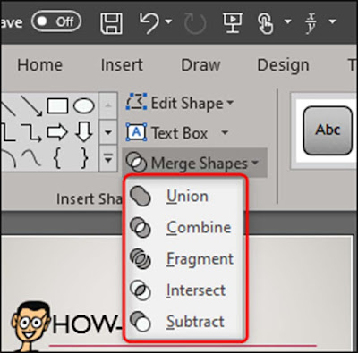 Cara Menggabungkan (Merge) Shapes / Bentuk Di Office PowerPoint