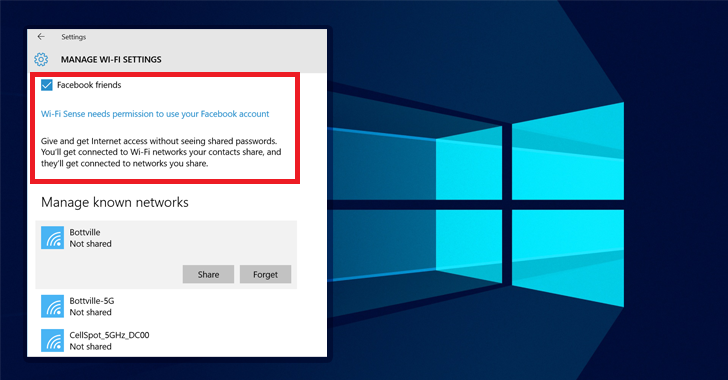 Microsoft removes its controversial Windows 10 Wi-Fi Sense Password Sharing Feature