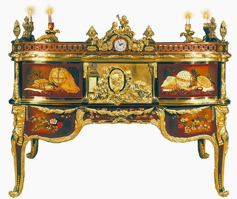 bureau cylindre du roi louis xv. Black Bedroom Furniture Sets. Home Design Ideas