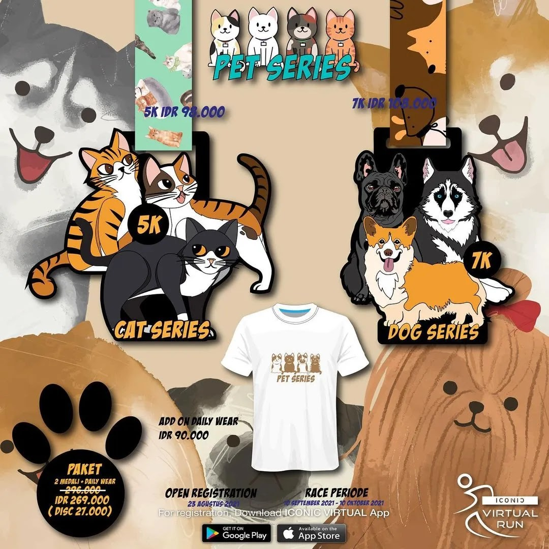 Iconic Virtual Run - Pet Series • 2021