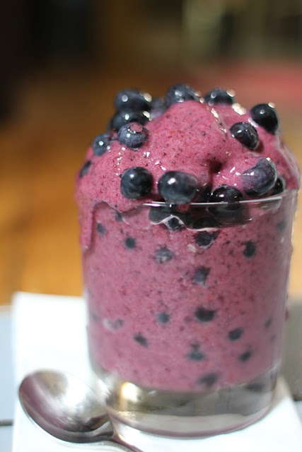 Low calorie blueberry slushy