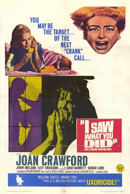 I Saw What You Did (1965) Joan Crawford, psycho-biddy, hag horror