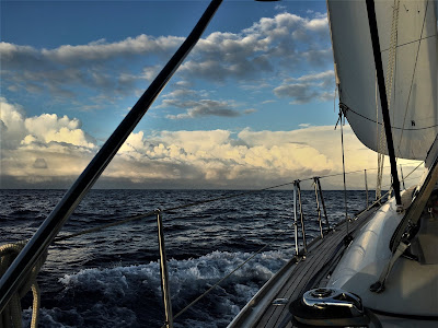 Clouds at sea Pacific
