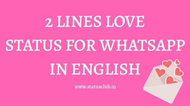 2 Lines Love Status in English