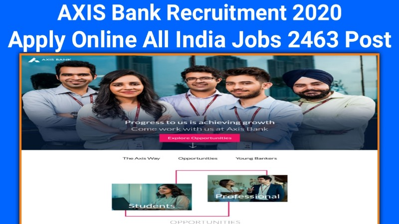 AXIS Bank Recruitment 2020 » Apply Online All India Jobs 2463 Post