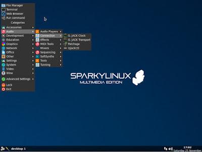 Tampilan SparkyLinux