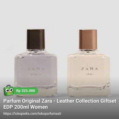 toko parfum asli parfum original zara leather collection giftset edp 200ml woman