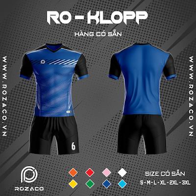 Áo Không Logo Rozaco RO-KLOPP Màu Xanh Bích