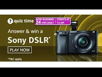 Amazon Quiz Answers Time Daily @ 24 HRS on 25 Feb 2021 Win Sony DSLR Camera