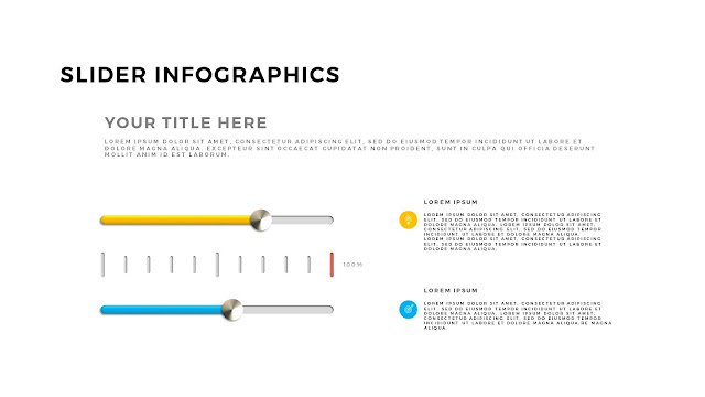 Free PowerPoint Template with Slider Infographics Slide 4
