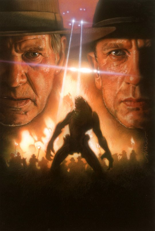 Póster de Cowboys and aliens obra de Drew Struzan