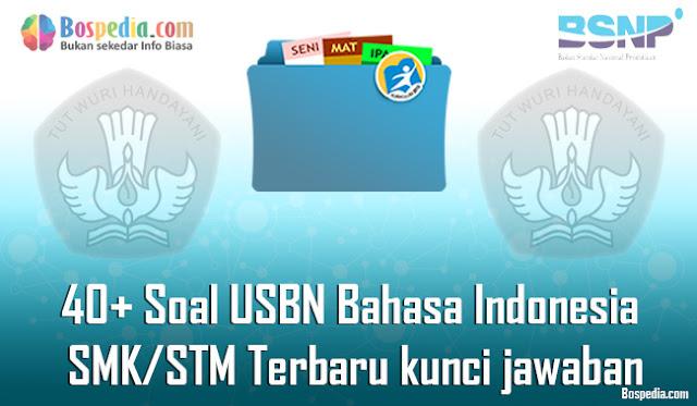 40+ Contoh Soal USBN Bahasa Indonesia Untuk SMK/STM Terbaru 2020 beserta kunci jawaban
