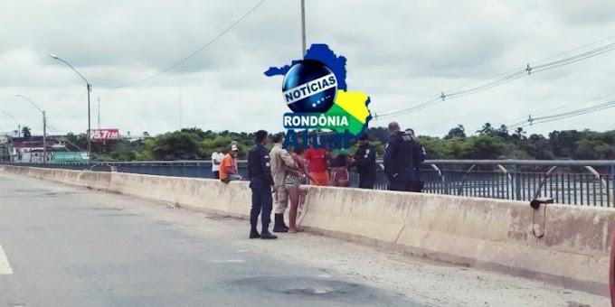 Jovens tentam tirar a própria vida pulando de ponte em Ji-Paraná
