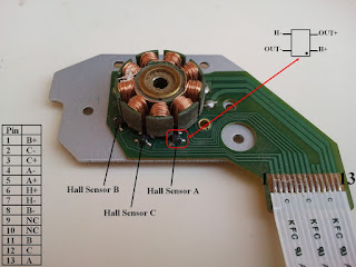 cd rom or dvd rom bldc motor pin configuration