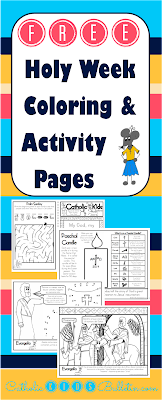 March Catholic Kids Bulletins: FREE Printables to teach Kids about the Catholic Mass