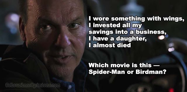 michael keaton vulture birdman spiderman homecoming meme