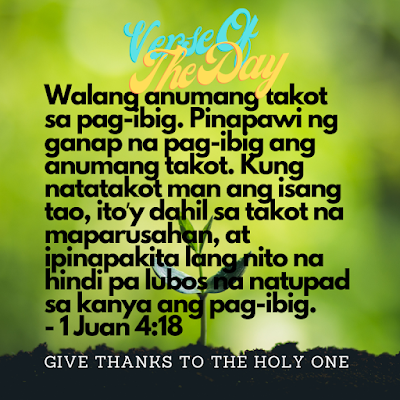 Bible Verse Of The Day Tagalog  September 21 2020  Give Thanks To The Holy One Photo