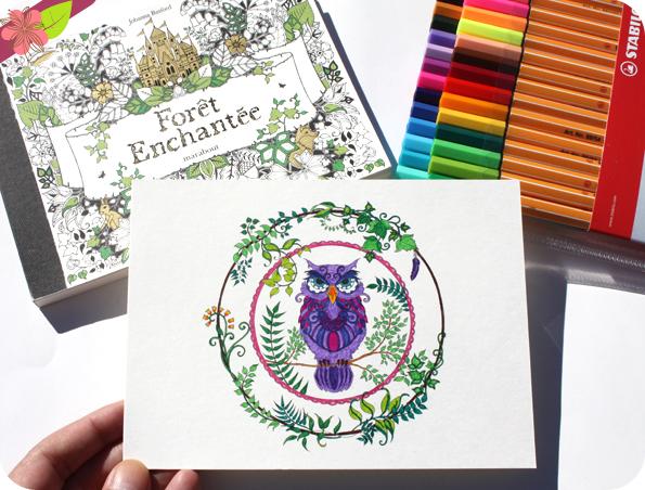 Forêt Enchantée - 20 cartes postales détachables à colorier - Johanna Basford