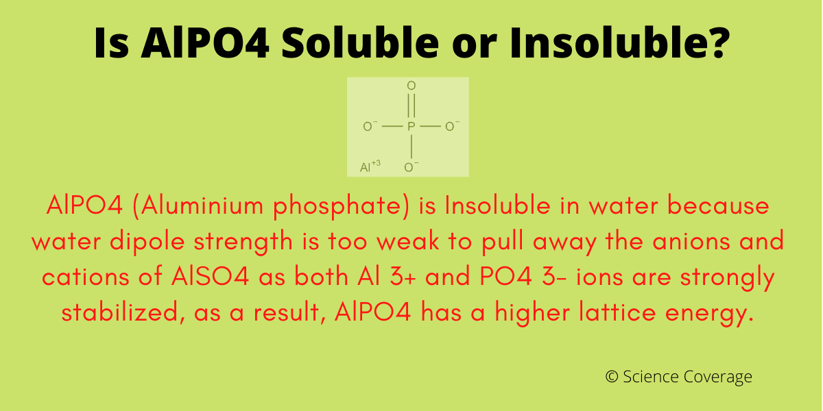 Is AlPO4 soluble or insoluble in water?