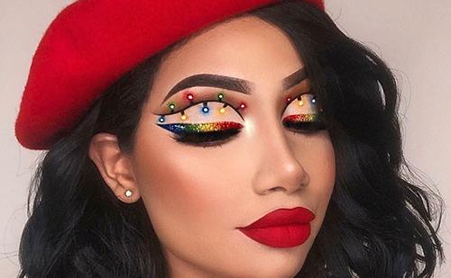 Ideas de maquillaje de ojos para Nochebuena