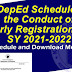 Deferment of the Conduct of Early Registration for School Year 2021-2022