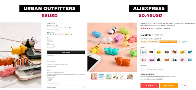 Urban Outfitters products found in Aliexpress