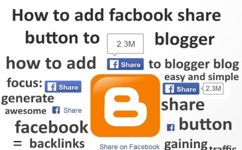 How to add share button to your blogger/wordspress