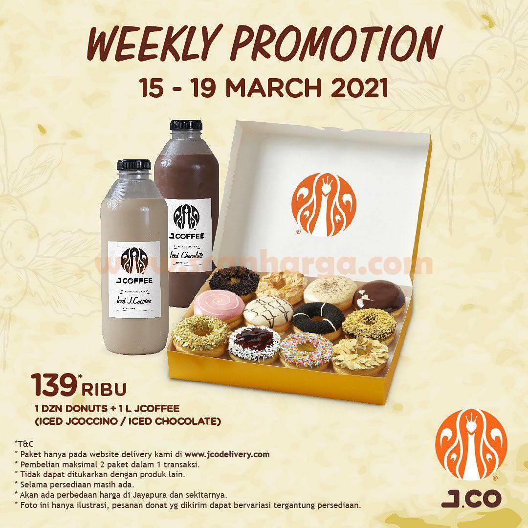 JCO Weekly Promotion! Beli 1 lusin donut + 1 L JCOFFEE hanya 139Ribu