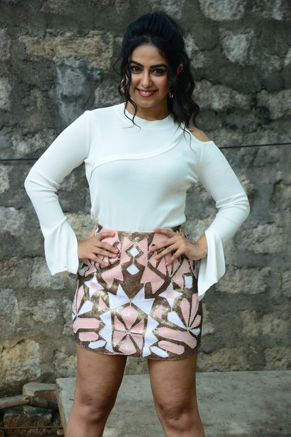 Avika Gaur Stunning Cute actress in Short Mini Skirt and White Top
