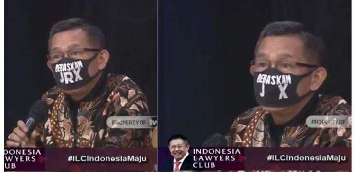 Penjelasan Eep Saefulloh Terkait Insiden Hilangnya Huruf R di Masker 'Bebaskan JRX'