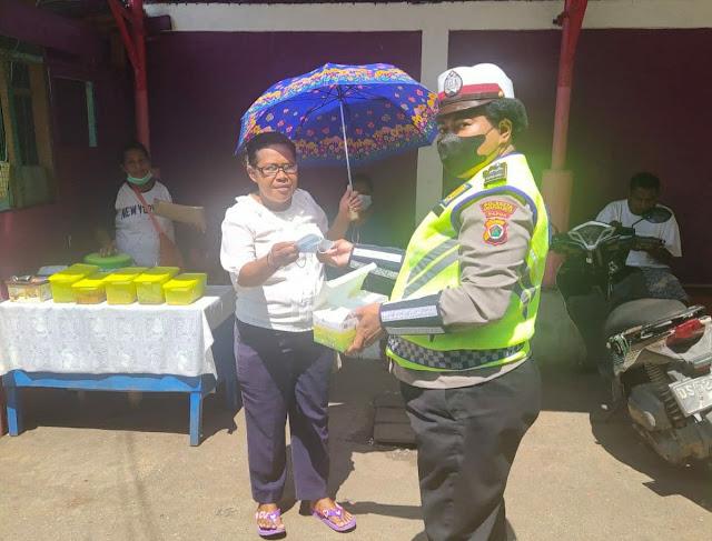 Rutin Polantas Polresta Himbauan Protkes, Dukung Pemerintah Cegah Penyebaran Covid-19 di Jayapura