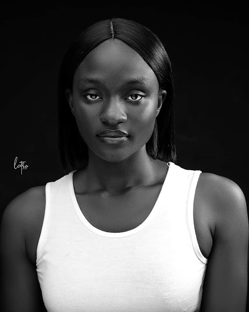 Beautiful dark-skinned woman
