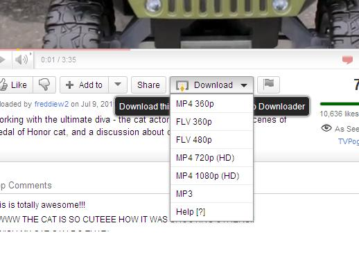 download option in the youtube video