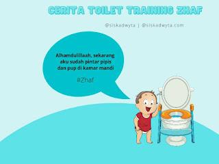 Penutup dari cerita toilet training zhaf