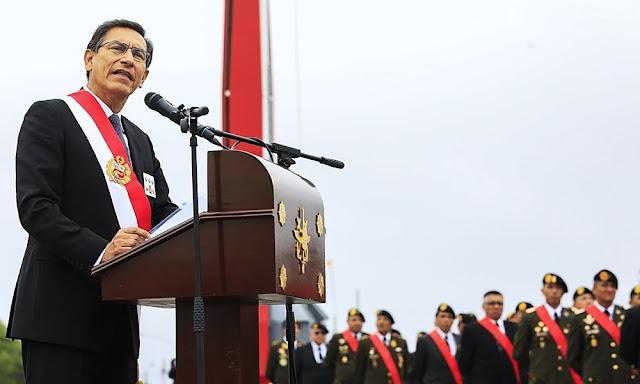Martín Vizcarra en 195 Aniversario de Batalla de Ayacucho