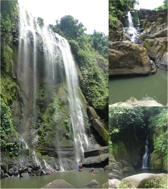 3 waterfalls of Luisiana Laguna - Talay falls, Hidden falls and Hulugan falls