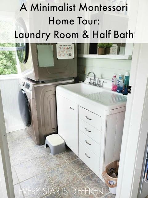 A Minimalist Home Tour: Laundry Room & Half Bath