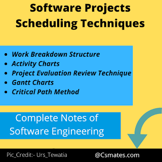 Software Projects Scheduling Techniques  in software Engineering