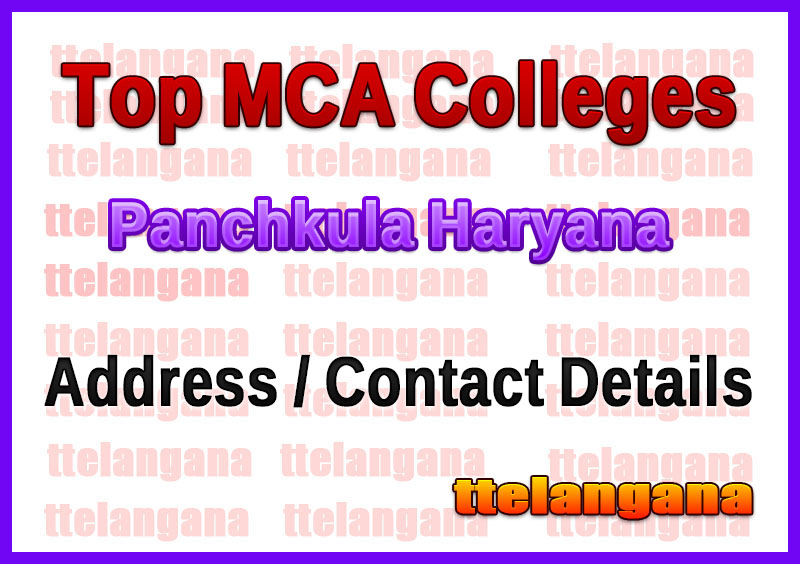 Top MCA Colleges in Panchkula Haryana