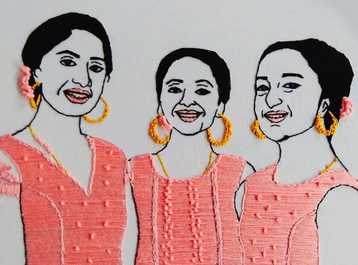 Embroidery hoop art by Sandhya Radhakrishnan