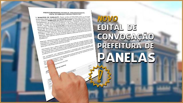 Prefeitura de Panelas publicou mais um edital com nomeação de novos aprovados do Concurso Público