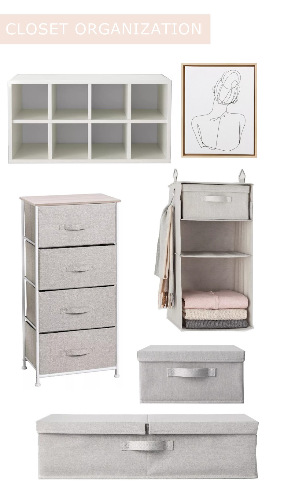 Products I used to organize my closet