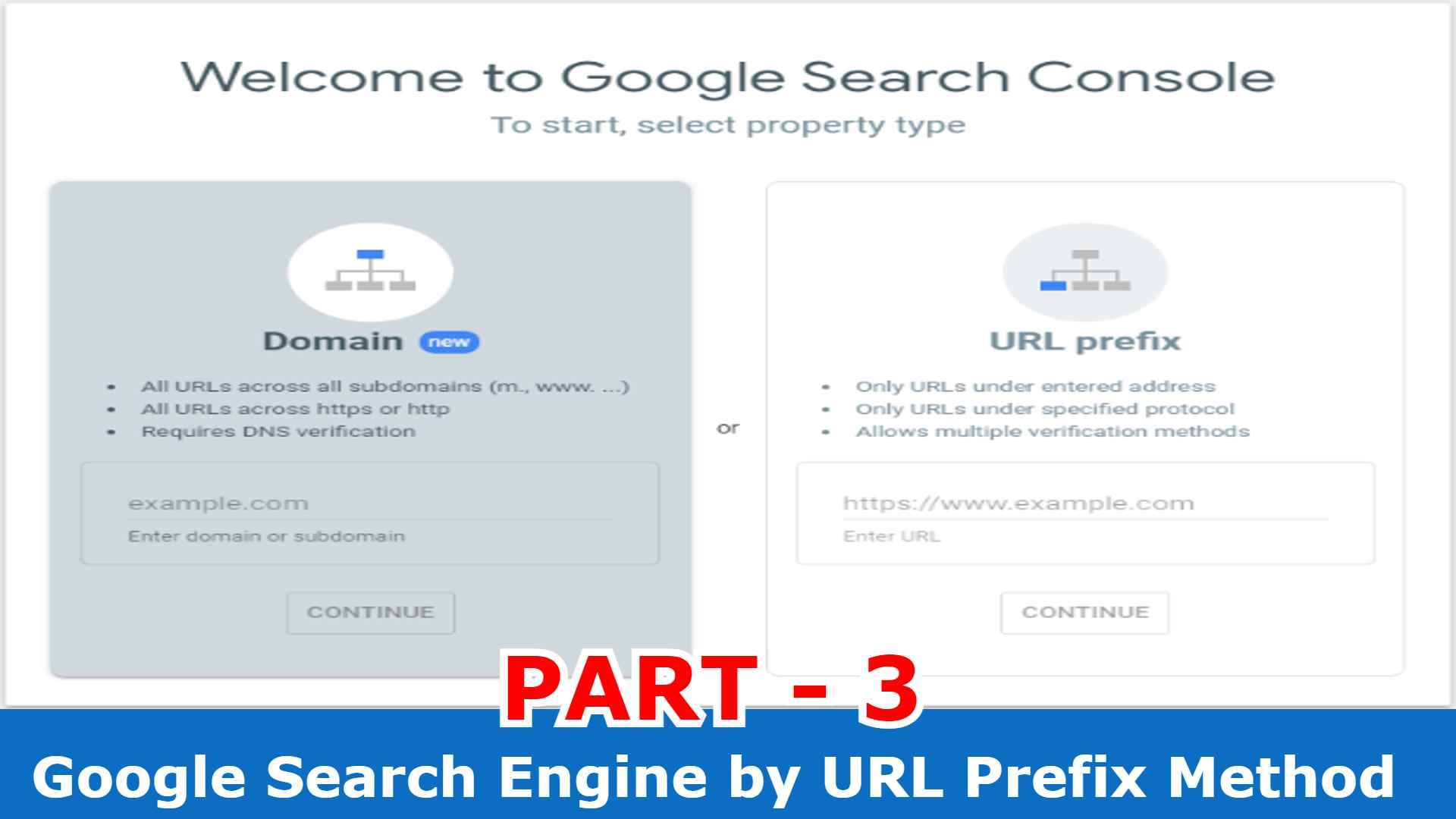 Google Search Engine by URL Prefix Method