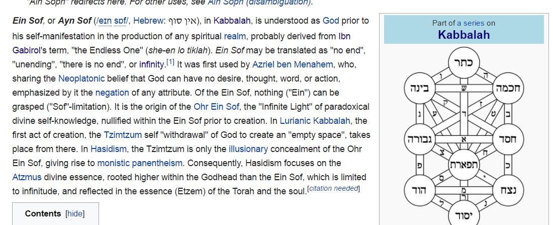 The Mindless Freaks: Ein Sof-Infinity-Kabbalah-613