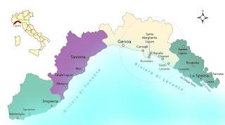 cartina della Liguria per la scuola