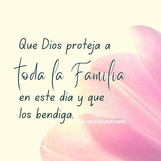 imagen cristiana con frases de bendiciones para la familia